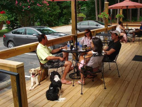 chatham hill winery cary dog friendly restaurant